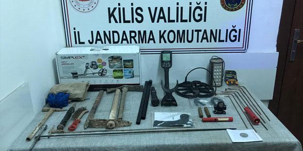 Kilis'te kaçak kazı operasyonu: 2 gözaltı