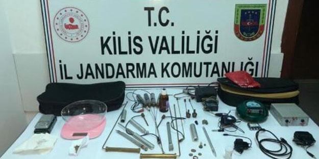 Kilis'te kaçak kazı yapan zanlı suçüstü yakalandı