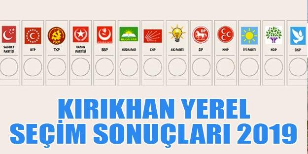 Kırıkhan yerel seçim 2019 sonuçları Kırıkhan belediye seçim sonuçları Cumhur ittifakı Millet ittifakı oy oranları