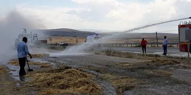 Kırıkkale'de korkutan yangın! Bir anda alev aldı