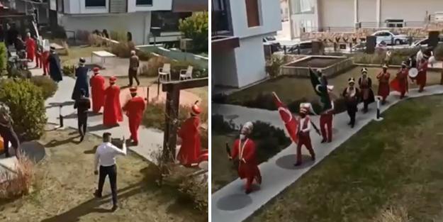 'Kırmızı' Antalya'da 'mehter marşlı' kız isteme töreni