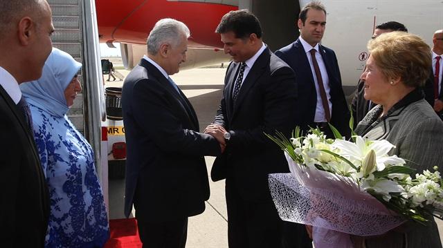 KKTC'de Başbakan Binali Yıldırım'a sürpriz karşılama