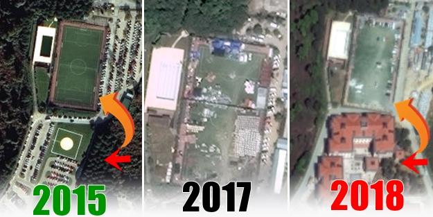 Koç Üniversitesi tek yeşil alanı da betonlaştırmış! Önce saha sonra bina