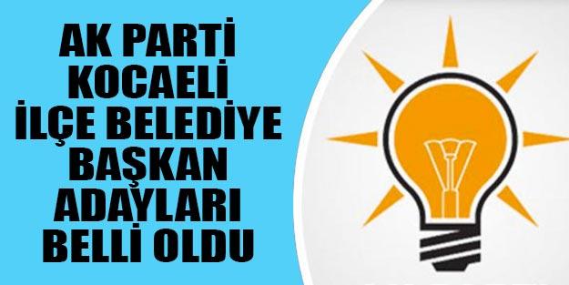 Kocaeli AK Parti ilçe belediye başkan adayları 2019 yerel seçim İzmit