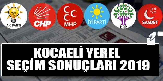 Kocaeli yerel seçim sonuçları 2019 | Kocaeli ilçeleri yerel seçim sonuçları Cumhur İttifakı Millet İttifakı oy oranları