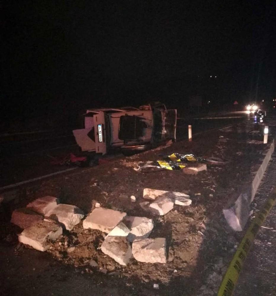 Kontrolden çıkan otomobil takla attı: 1 ölü, 4 yaralı