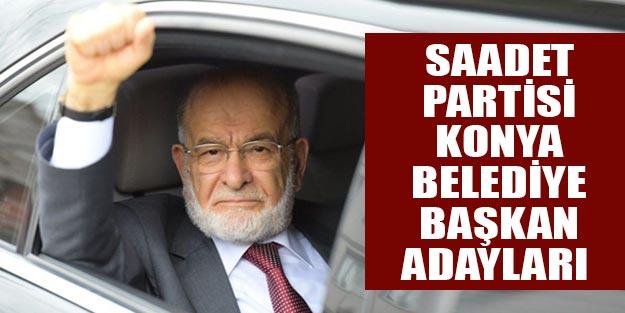 Konya Saadet Partisi belediye başkan adayları 2019 yerel seçim