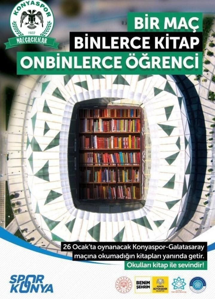 """Konya'da """"1 Maç, Binlerce Kitap, On Binlerce Öğrenci"""" kampanyasına destek çağrısı"""