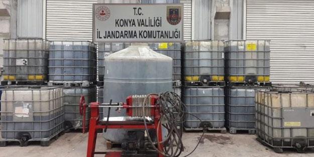 Konya'da kaçak akaryakıt operasyonu: 20 bin litre ele geçirildi
