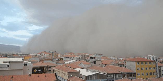 Konya'da kum fırtınası