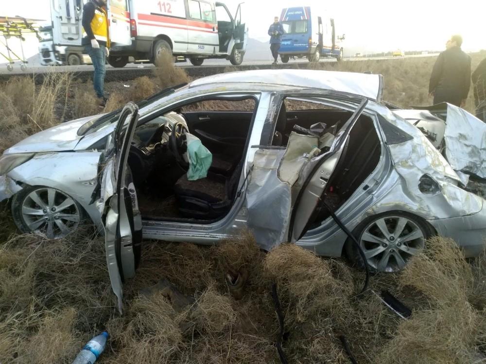 Konya'da otomobil takla attı: 8 yaralı