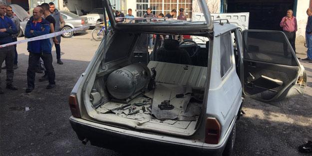 Konya'da otomobilin LPG deposu patladı: 3 yaralı