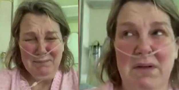Koronavirüs hastası kadın ağlayarak çağrı yaptı: Buna değmez