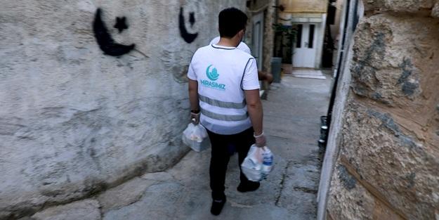 Koronavirüsten etkilenen Kudüslülere Türkiye'den yardım