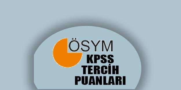 KPSS yerleştirme en küçük en büyük puanlar