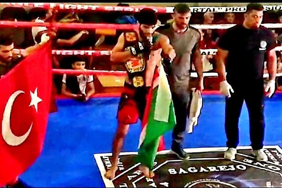 Küçükköyspor MMA'da Tiflis'ten altın kemerle döndü