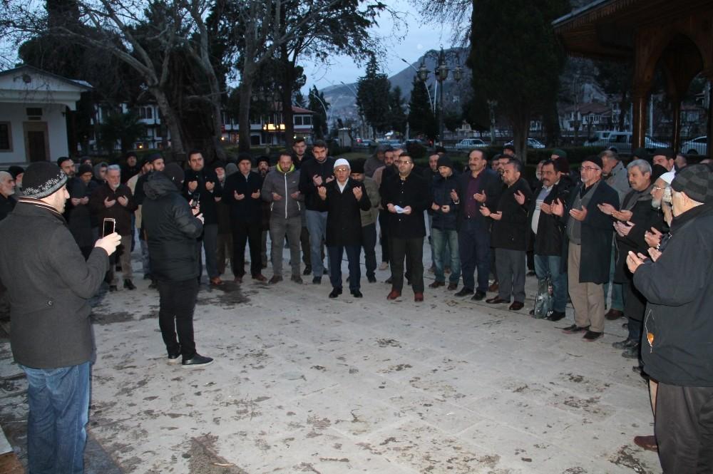 Kudüs Müftüsü'nün tutuklanması Amasya'da protesto edildi