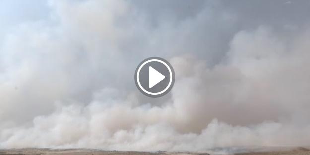 Kükürt fabrikası yanmaya devam ediyor