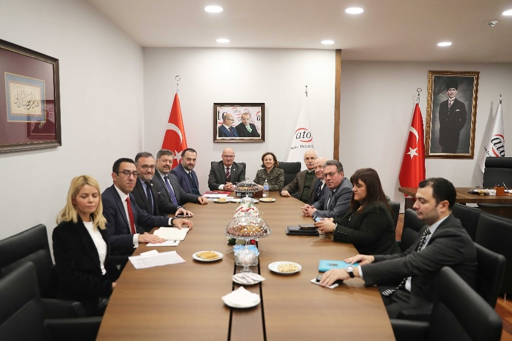 Kültür ve Turizm Bakan Yardımcısı Yavuz'dan ATO Başkanı Baran'a ziyaret