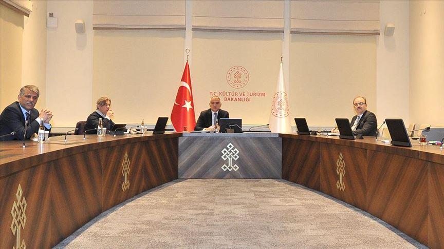 Kültür ve Turizm Bakanı Ersoy, AB büyükelçileri ile video konferansla toplantı yaptı