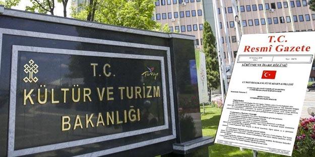 Kültür ve Turizm Bakanlığı atama Resmi Gazete kararları | Kültür ve Turizm Bakanlığı atamaları listesi