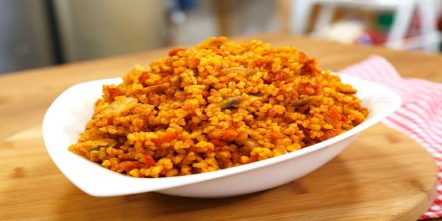 Kurutulmuş sebzeli bulgur pilavı tarifi | Nefis pilav tarifleri