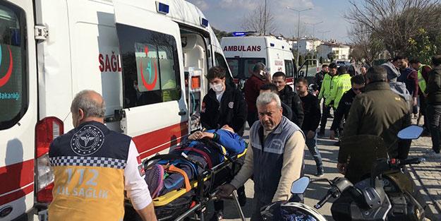 Kuşadası'nda feci kaza: 2 kişi ağır yaralandı