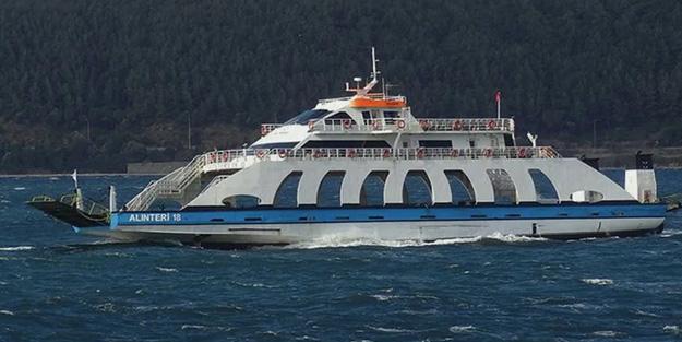 Kuzey Ege ve Güney Marmara'da feribot seferlerine fırtına engeli