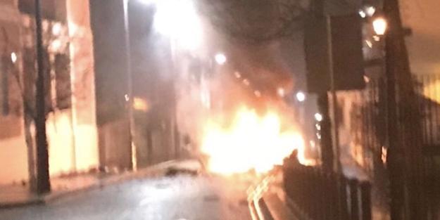 KUZEY İRLANDA'DA BOMBALI ARAÇ PATLADI!