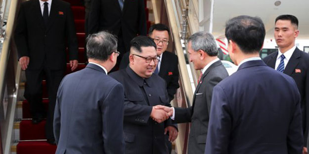 Kuzey Kore lideri Kim, Singapur'a yemeğini kendi getirdi