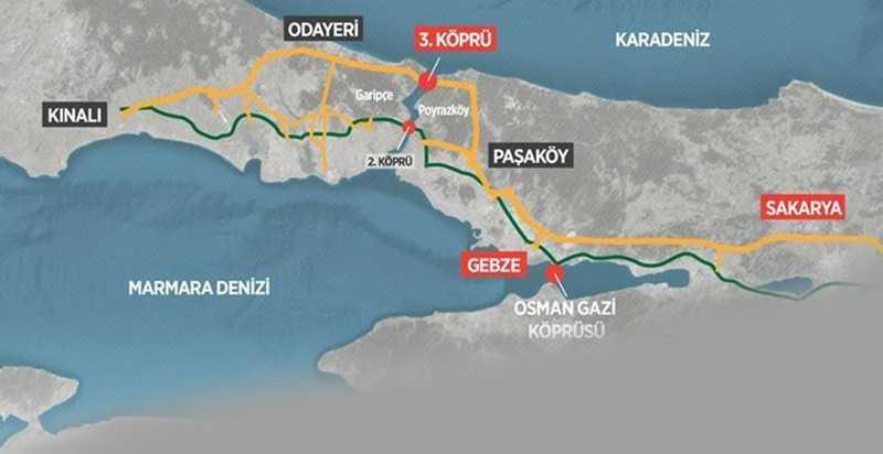 Kuzey Marmara otoyolunun güncel fiyat tablosu ortaya çıktı!