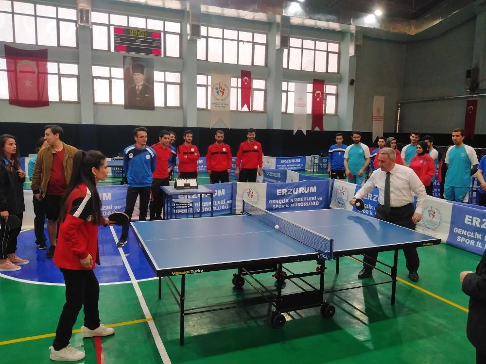 KYK Masa Tenisi Bölge Şampiyonası başladı