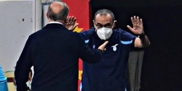 Lazio'nun teknik direktörü Fatih Terim'i görünce...