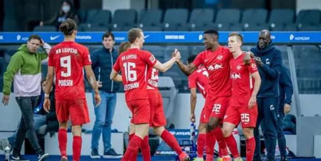 Leipzig, Hertha Berlin'e karşı zorlanmadı