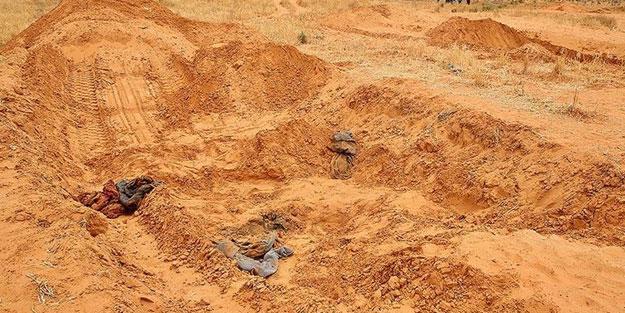 Libya'daki toplu mezarlardan çok sayıda ceset çıkarıldı