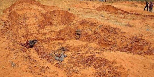 Libya'daki toplu mezarlardan onlarca ceset çıkarıldı