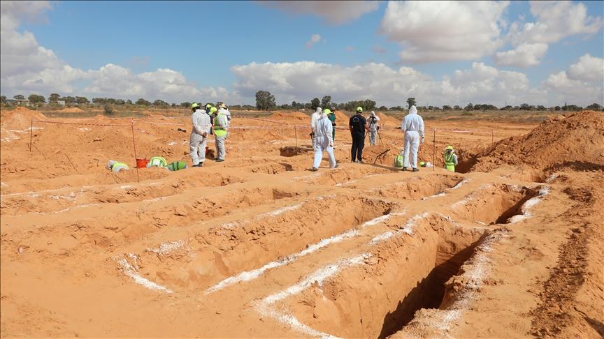 Libya'nın Terhune kentinde bir toplu mezar daha bulundu
