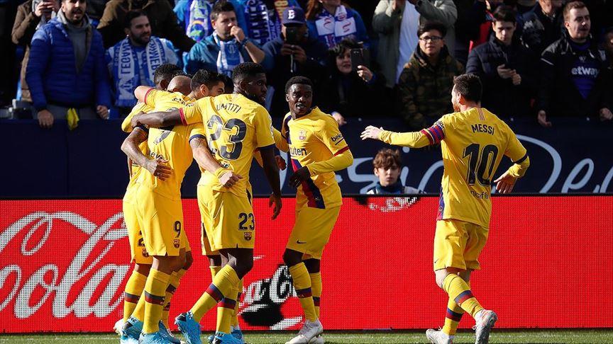 Lider Barcelona Leganes'den 3 puanla döndü