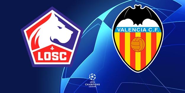 Lille Valencia Şampiyonlar Ligi maçı saat kaçta hangi kanalda?
