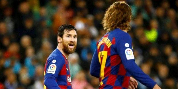 Lionel Messi ile Antoine Griezmann birbirine girdi