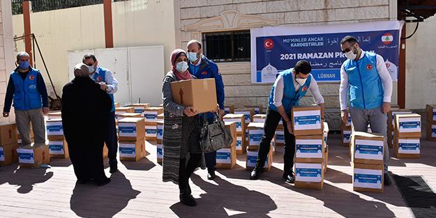 Lübnan'da 7 bin aileye gıda ve kıyafet yardımı