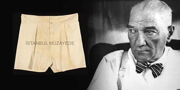 M. Kemal'in iç çamaşırlarının satışı durduruldu