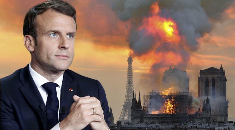 Macron: Daha güzel şekilde yeniden inşa edeceğiz