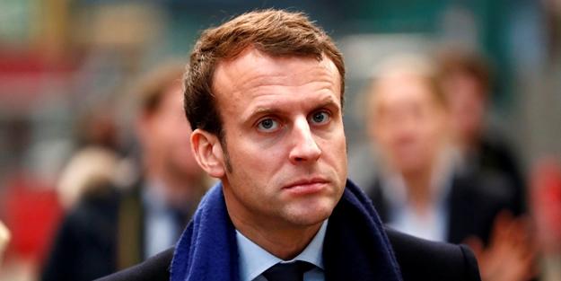 Macron dibi boyluyor