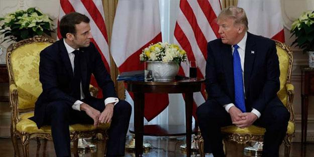 Macron 'Kurtlar Vadisi izleyip' Trump'ın yanına gitti, ortalık karıştı!