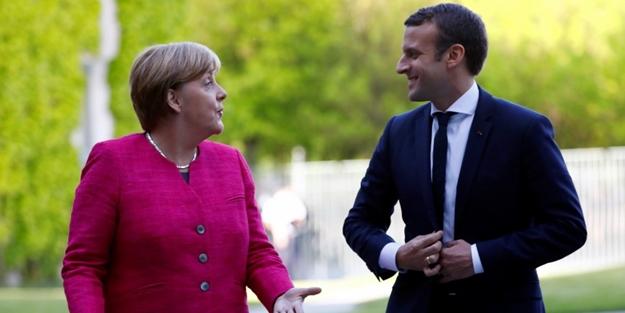 Macron ve Merkel'den ortak çağrı! 'Türkiye bölgeden derhal çekilmeli'