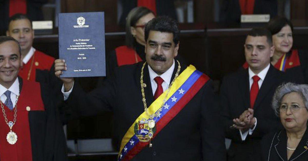 Maduro yemin töreninde, böyle selamladı: Selamünaleyküm