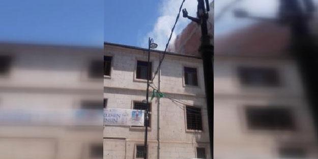 Malatya'da cami çatısında yangın