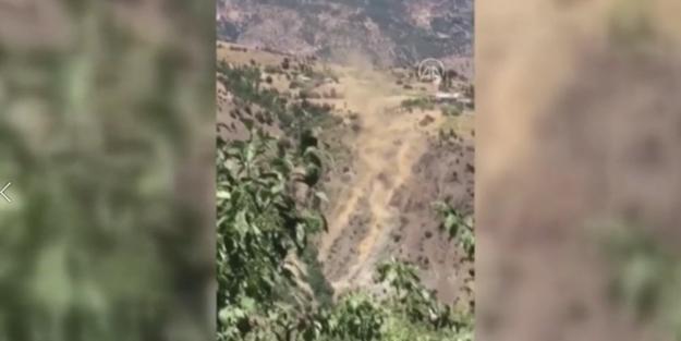Malatya'da deprem anında korkutan görüntü