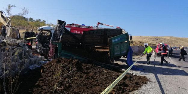 Malatya'da kamyonet devrildi: 1 ölü, 1 yaralı
